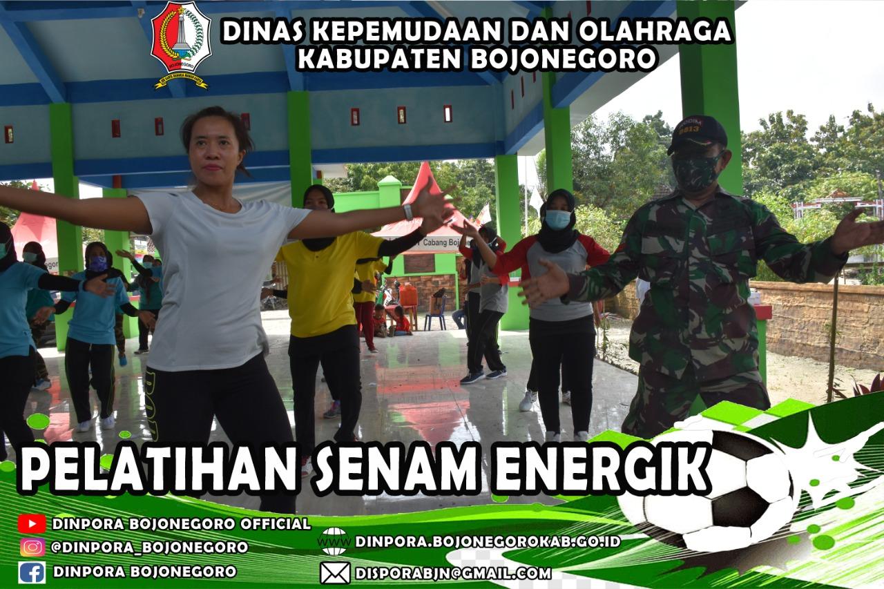 Pelatihan Senam Energik Bojonegoro 2021<BR>Dalam rangka TMMD Ke-110 TA. 2021 di Desa Jatimulyo Kec. Tambakrejo 13 Maret 2021